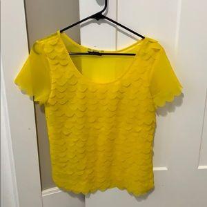 H&M ruffled scallop blouse